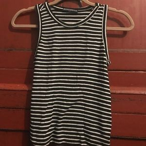 Brandy Melville Striped Muscle Tee